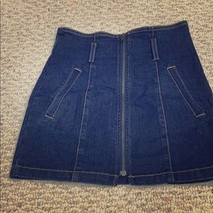 LF denim fitted mini skirt